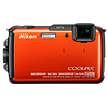 Specification of Casio Exilim EX-ZR1000 rival: Nikon Coolpix AW110.